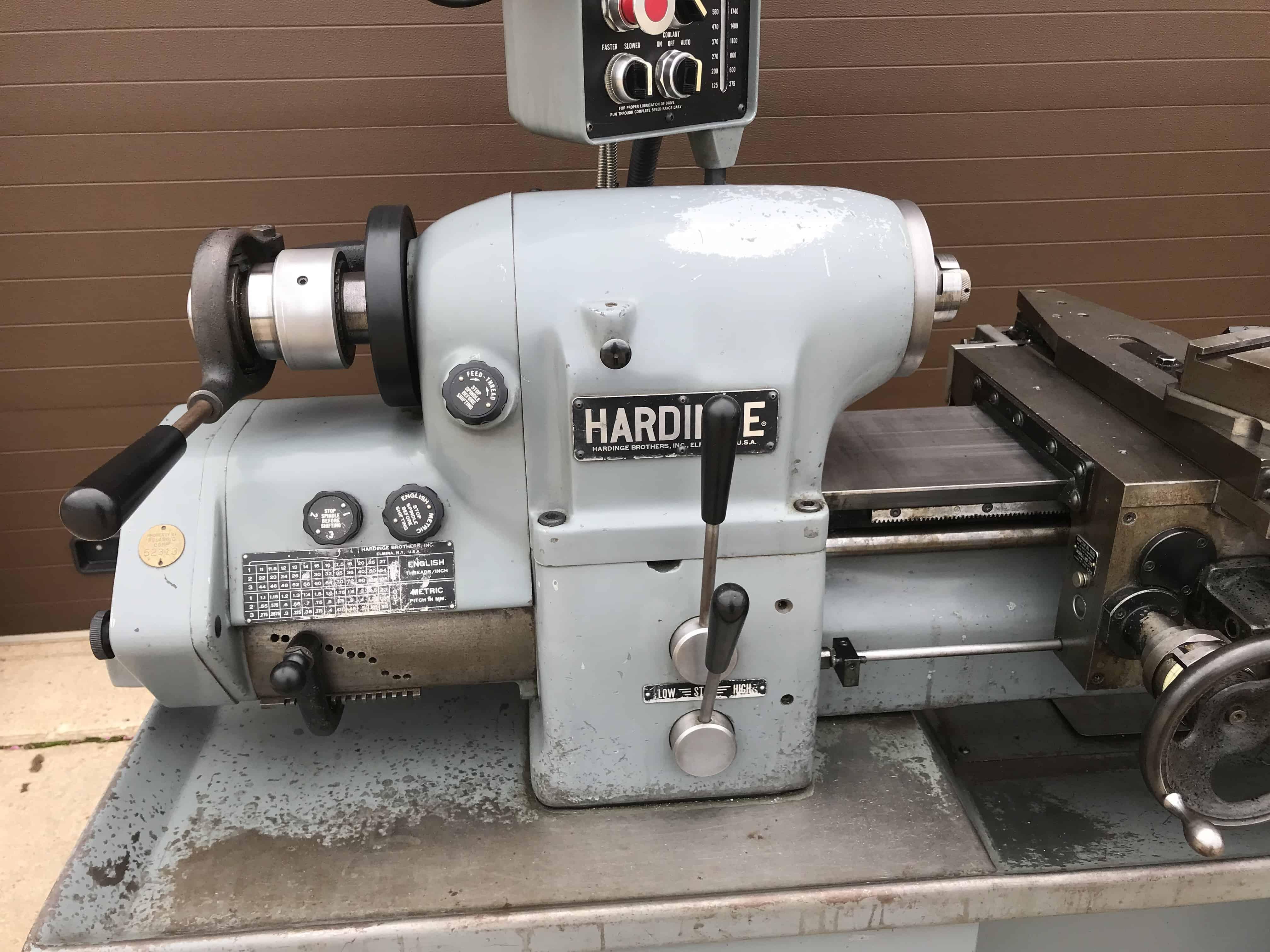 Hardinge Hlv-h-em Tool Room Lathe